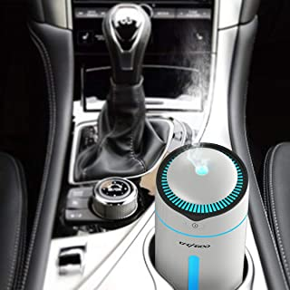 CACAGOO Car Diffuser Cool Mist Air Car Humidifier Air Refresher USB Ultrasonic Diffuser with 7 Colorful LED Lights, Waterless Auto Shut-Off, for Car Travel Office Home (BPA Free)