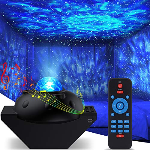 Galaxy Star Projector, Sky Light Lite Starry Night Projector Nebula Room Decor, Space Projector for Bedroom Cloud Cove Ocean Wave Light, Time Ceiling Light 360 Pro Projector for Kids Bluetooth Speaker