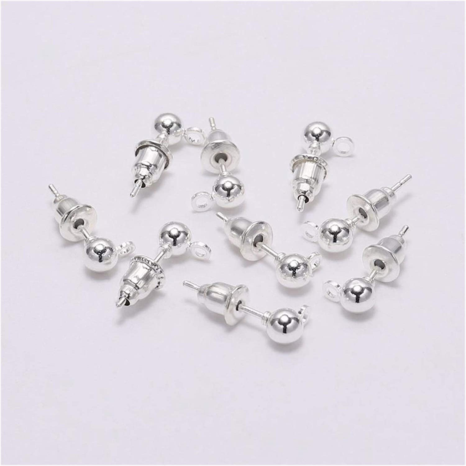 Fixed price for sale WESET 50pcs lot 3 4 5mm Pin Now on sale Stud Earring Basic Pins Findings Sto
