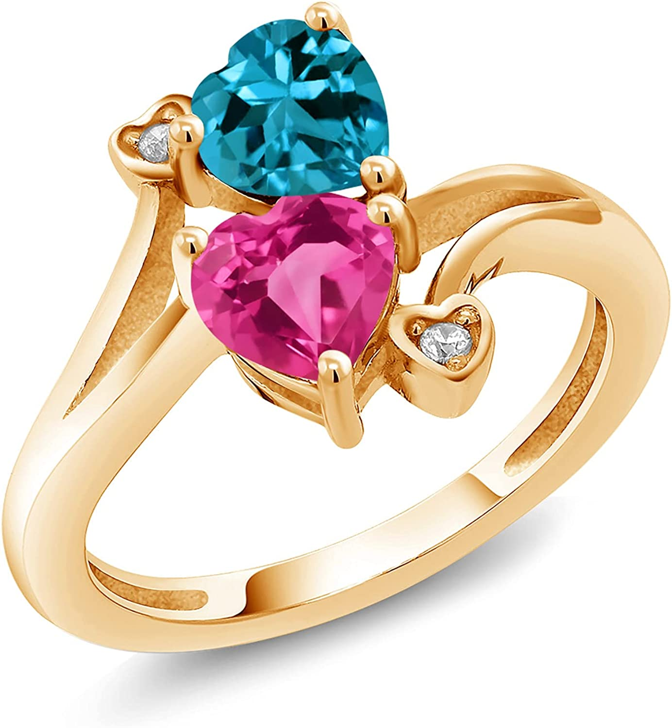 Gem New product! New type Stone King 1.78 Ct London Ye Pink store Sapphire Created 18K Topaz