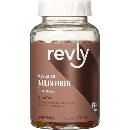 Amazon Brand - Revly Inulin Fiber 6g - Digestive Health, Supports Regularity - 90 Gummies (3 Gummies per Serving) Vegetarian, Non-GMO