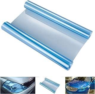 Professional 30x120cm Self Adhesive Headlights Tail Lights Fog Tint Vinyl Film Light Blue, Blue Headlight - Headlights Stickers, Self Adhesive Sheets Black, Adhesive Side Marker, Sticker Taillight