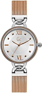 Gc Womens Quartz Watch, Analog Display And Stainless Steel Strap - Y49002L1MF