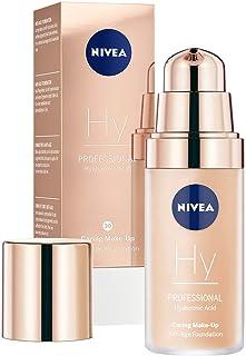 NIVEA PROFESSIONAL Ácido hialurónico base de maquillaje profesional 30W pieles oscuras maquillaje antiedad para reduci...