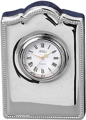 Woodford Unisex Beaded Edge Quartz Clock - Silver