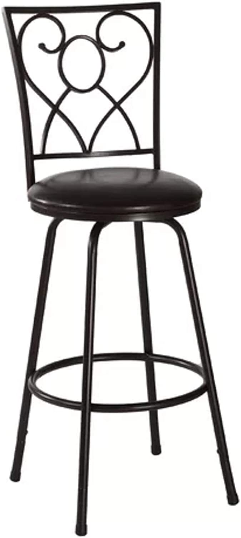 Full Back Bar Stool. Sturdy Classic Simple Upholstered Steel Bear River Adjustable Height Swivel Full Back Bar Stool with Nested Leg.