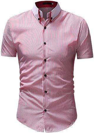 CHENS Camisa/Casual/Unisex/XXL Camisa de Rayas Camisa de ...
