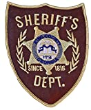 WALKING DEAD King County Sheriff 4 3/4' Tall Embroidered PATCH