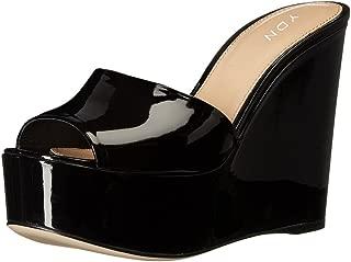 Women High Heels Platform Mules Peep Toe Clogs Slip on Wedge Sandals Slide Backless Shoes