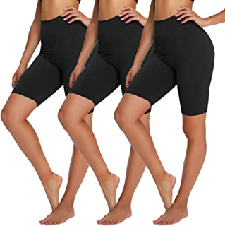 """YOLIX High Waisted Biker Shorts for Women - 8"""" Soft Tummy Control Stretchy Yoga Shorts for Workout, Training, Running"""