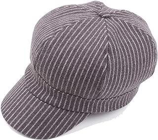 LiWen Zheng 2019 Beret Cap Autumn Winter Wool Ladies Cotton Men's Striped Octagonal Hat Thick Warm Double Layer