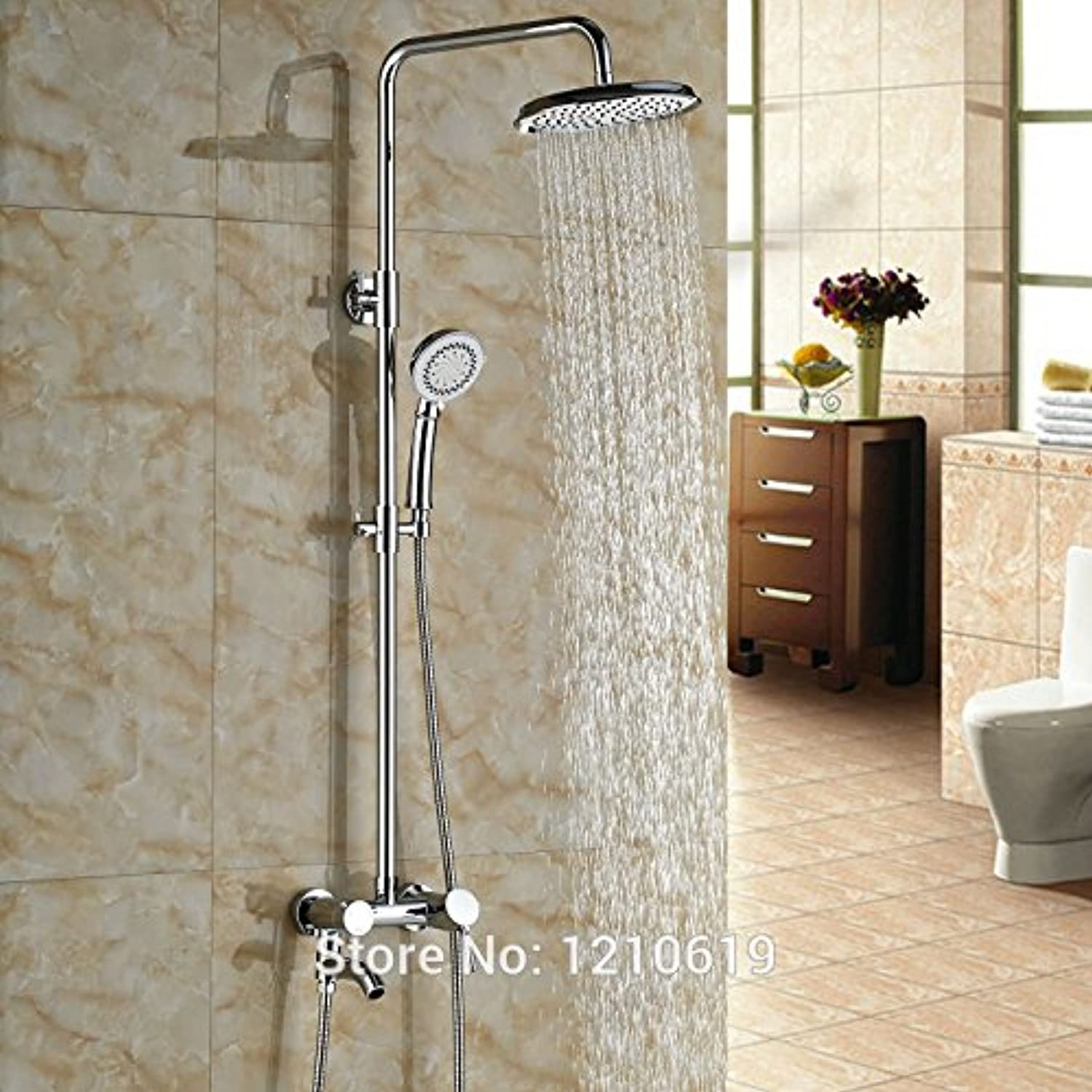 Maifeini The Latest Modern Style Bathrooms Are Shower Mixer Wall Polished Chrome-Shower Mixer Taps With Manual Injection, Multiple