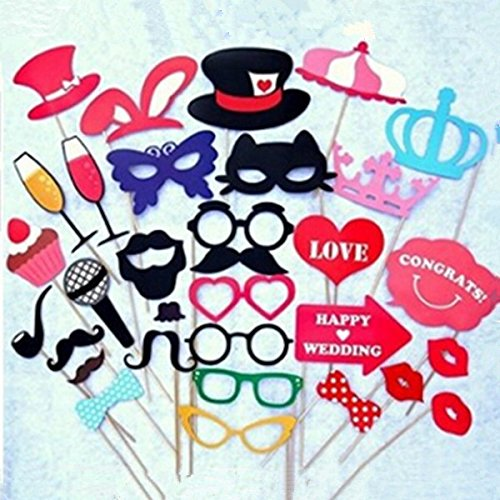 RGRGH 31 STKS DIY Masker Photo Booth Props Snor Op Een Stok Bruiloft Verjaardag Party