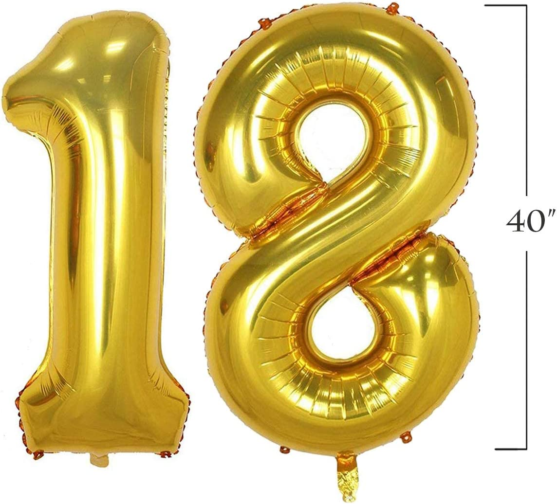 Props for Photos 40inch Jumbo Gold 13 Number Balloons for 13th Birthday Party Decoration Boys Girls 13 Years Old Birthday Party Supplies Gold 13