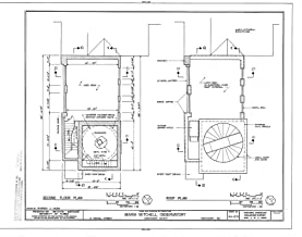 Historic Pictoric Structural Drawing HABS Mass,10-NANT,100- (Sheet 3 of 8) - Maria Mitchell Observatory, 3 Vestal Street, Nantucket, Nantucket County, MA 55in x 44in