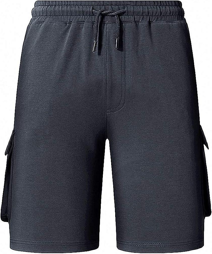 Goobester Cargo Shorts Solid Mens Boardshorts Bodybuiding Basketball Multi Pockets Beach