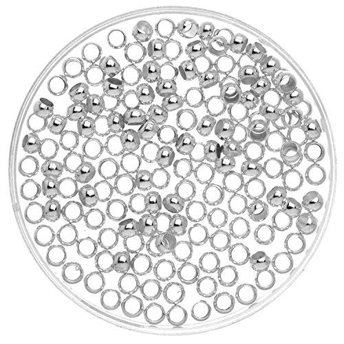 Glorex 63709018–Schiaccini, 1000Pezzi, 3mm, Argento