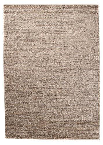 Carpeto Rugs Tapis pour Salon Uni Moderne - Tapis Poils Courts - Petit & Grand Tapis de Salon, Chambre, Cuisine - Beige 120 x 170 cm