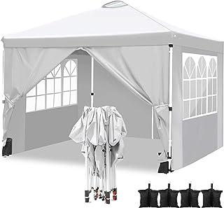 comprar comparacion Hikole Carpa 3x3 Cenador Plegable Impermeables Carpas de Jardin Pop Up Gazebo con 4 Paredes Laterales y 4 Bolsa de Arena