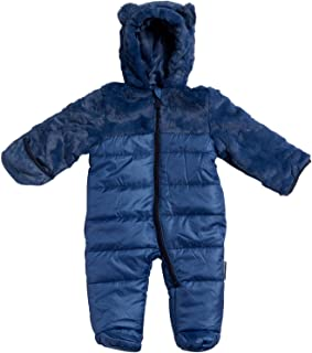 Wippette Newborn Baby Boys Snowsuit Poly Filled Pram with Fur Trim