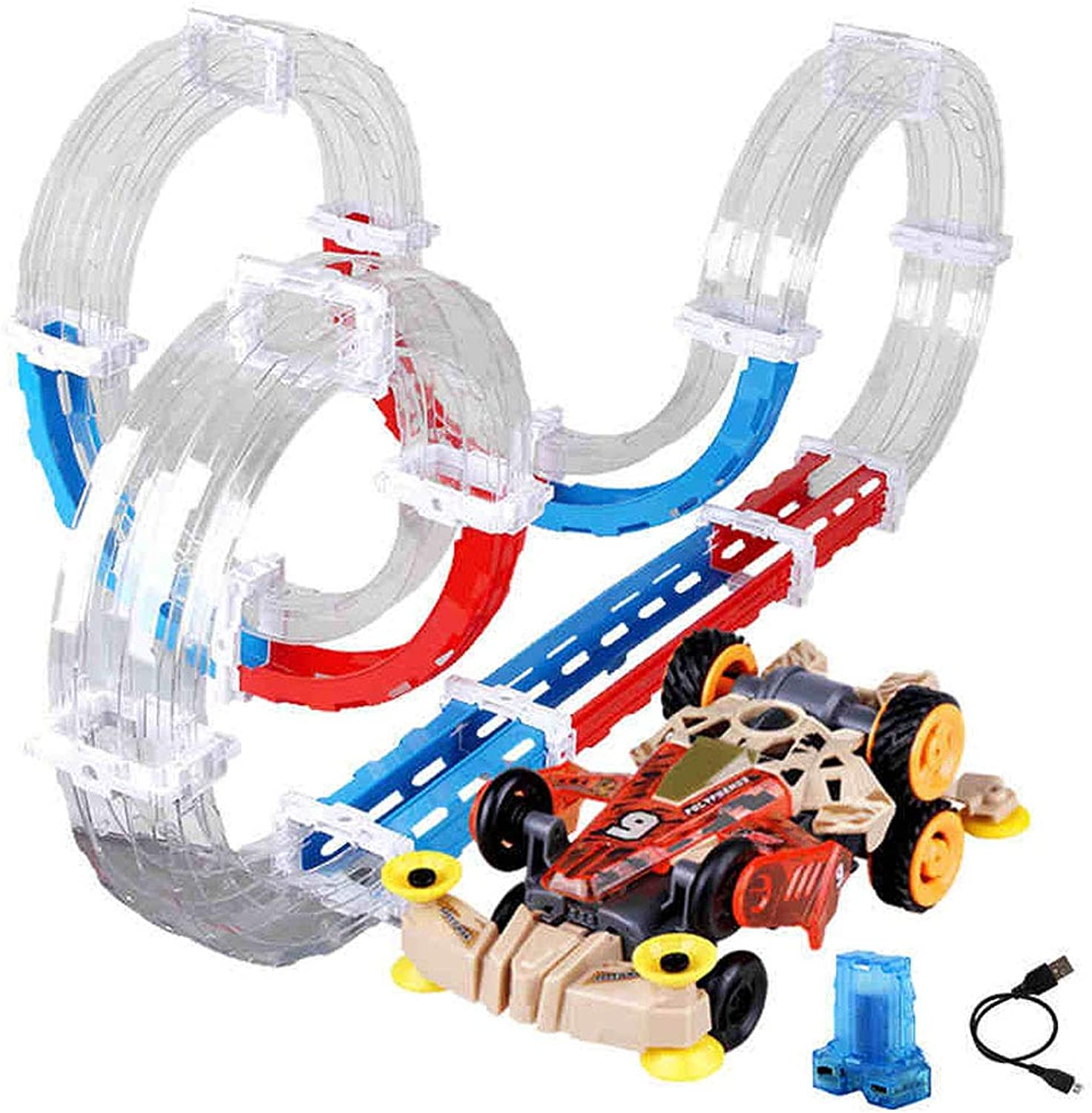 Track Racing, Assembling Racing Track Track ,4WD, Mini Racing Toy, Assembled Track Racing