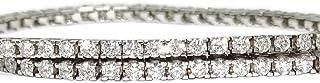 Bracciale  diamanti e oro bianco 18 kt per uomo e donna 967B7315
