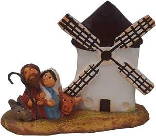 Belén Navidad Cerámica Molino Plano Clasico