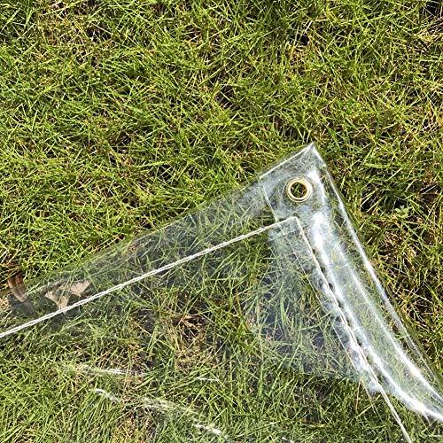 Bâche Transparente Imperméable À l'eau, Boutonnière en Métal De Tissu en Plastique Durable De 0.5mm PVC-Coupe-Vent (600g / M²) (Taille : 1.9x2m)