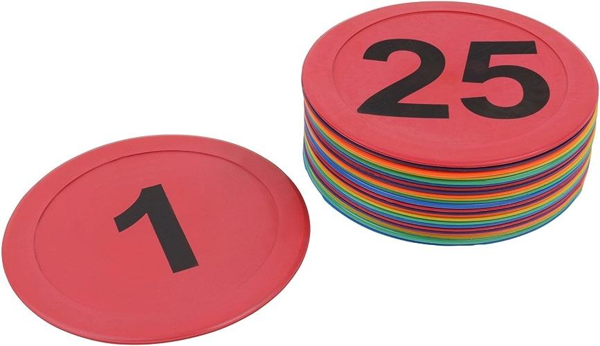 Marquages au sol numérougeés – 10 – 25 – 50