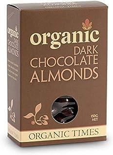 Organic Times Organic Dark Chocolate Coated Almonds Packet, 150 g