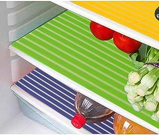 Kuber Industries Lining Design PVC 6 Piece Refrigerator Drawer Mat Set - Multicolour