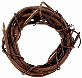 Darice Grapevine Wreath - Natural - 1 inch (1 Pack of 8 Pieces)