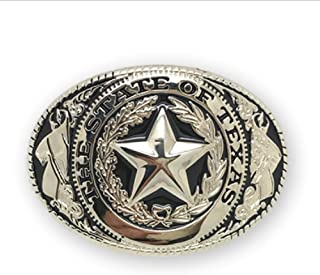 Adult Unisex Western Texas Lone Star Belt Buckle Silver Gold