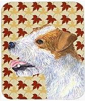 Caroline's Treasures Mouse/Hot Pad/Trivet Jack Russell Terrier Fall Leaves Portrait (SS4352MP) [並行輸入品]