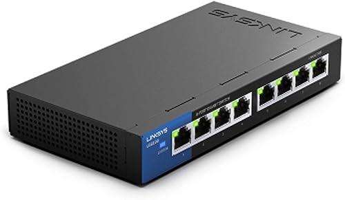 Linksys LGS108-EU Comutateur Gigabit non administrable à 8 ports pour professionnels