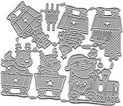 BUZHI Metal Die Cuts Hallowmas Christmas Greeting Border Cutting Dies Cut Stencils for DIY Scrapbooking Photo Album Decorative Embossing Paper Dies for Card Making (Christmas Car Cutting Dies)