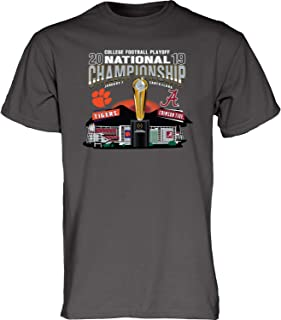 Blue 84 Alabama Clemson 2019 CFP National Championship Game Dueling Gray T-Shirt