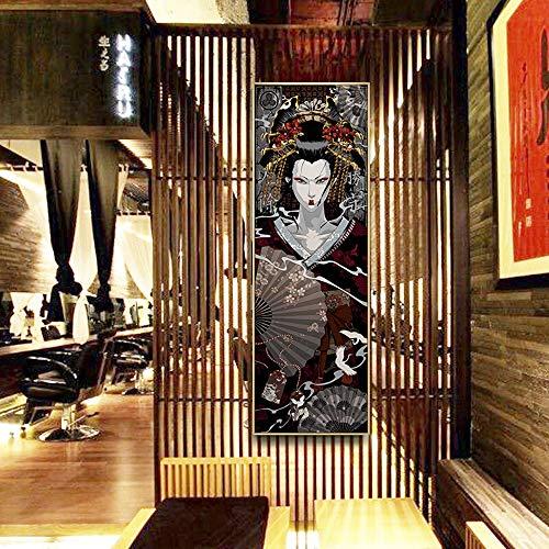 Leinwandbilder Wandbilder Wand Deko For Wohnzimmer Dekoration Malerei For Tattoo Shop Izakaya Sushi Restaurant Tatami Samurai Malerei Farbe 02