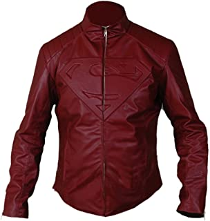 F&H Men's Superman Genuine Leather Jacket