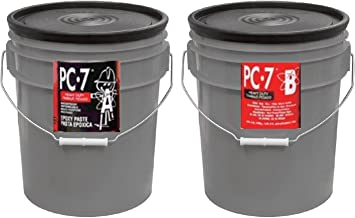PC Products PC-7 Epoxy Adhesive Paste, Two-Part Heavy Duty, 10gal in Two Pails, Charcoal Gray 909072