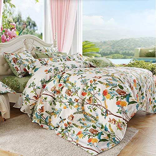 BEDSETAAA Bettwäscheset Wunderschönes Blumendruck-Design Mit Vier Sätzen Kissenbezug, 180 X 220 cm