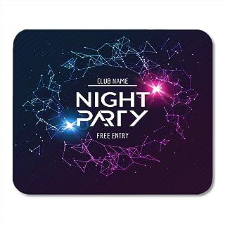 Almohadillas para ratón Evento Fiesta colorida Noche de Concierto Neón Brillante Club Disco Dj Diversión Música