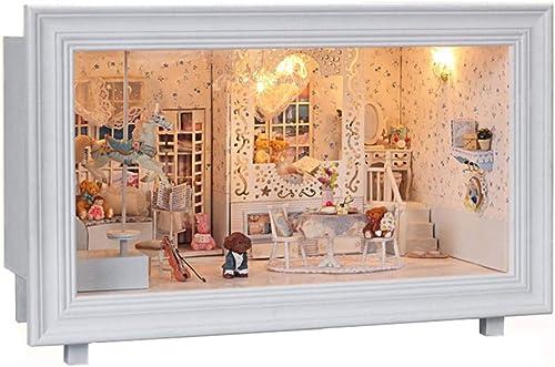 LSQR Home Decorations DIY Miniature Doll House Toy Model Building Kits Dollhouse Wooden M l Toys Birthday Geschenk Prinzessin Dream Toys für mädchen