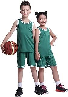TERODACO Boys Basketball Shorts and Jerseys Tank Tops Kids Girls Soccer Uniforms Set for Performance Trainning