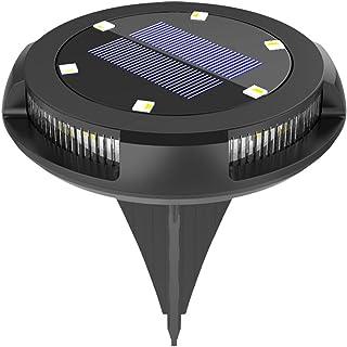 Staright Lâmpada solar de 1pc com luz quente e azul Lâmpada solar de solo Lâmpada solar para gramado