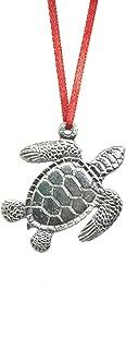 669 Sea Turtle Holiday Christmas Ornament Keepsake Pewter