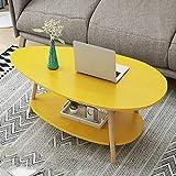 Mesas de centro Mesa de café doble, sencillo y moderno, creativo pequeño apartamento, hogar de mini mesa, dormitorio ovalada pequeña mesa de café, sofá mesa de café, aperitivos, tabla de almacenamient