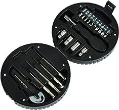 19-Piece Mini Tool Set With Wheel Style Case Black/Silver
