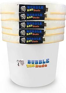 BUBBLEBAGDUDE Bubble Bags All Mesh 5 Gallon 5 Bag Set Herbal Ice Essence Extraction Bag..