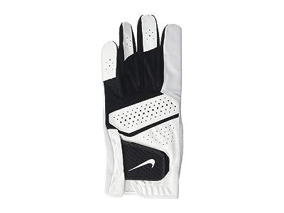 Nike Tech Extreme VI Cadet Left Hand Golf Glove (Pearl White/Pearl White/Black) Over-Mits Gloves